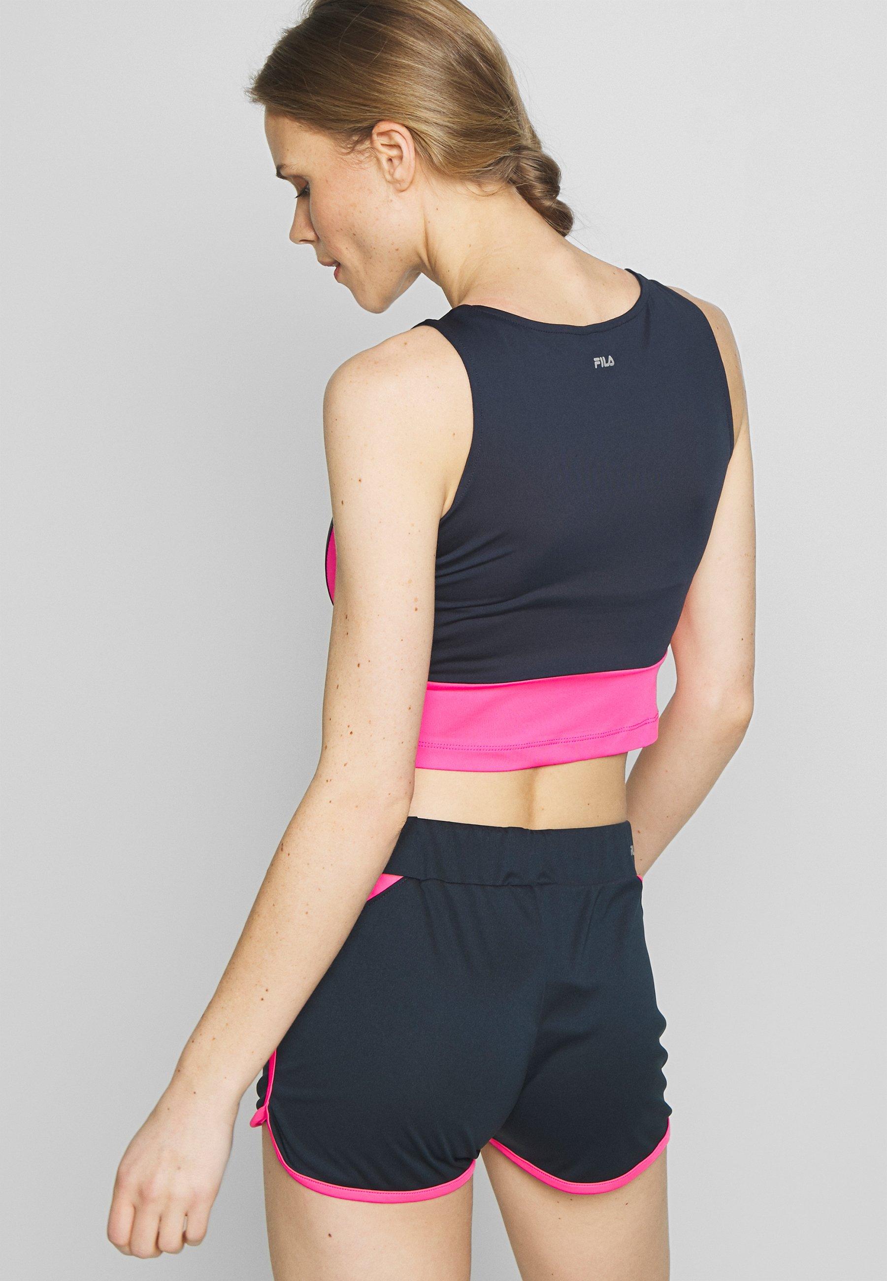 Fila CLAUDIA - Treningsskjorter - peacoat blue/knockout pink