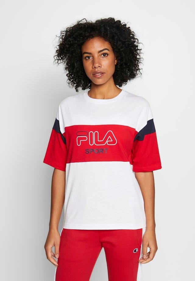LALETTE TEE - T-shirt med print - bright white-true red-black iris