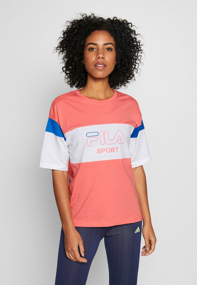 LALETTE TEE - T-Shirt print - shell pink/bright white/princess blue