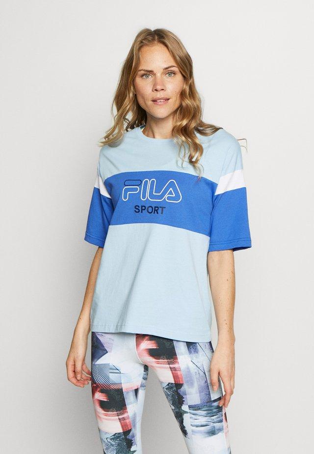 LALETTE TEE - T-shirt con stampa - ceruleran/dazzling blue/bright white