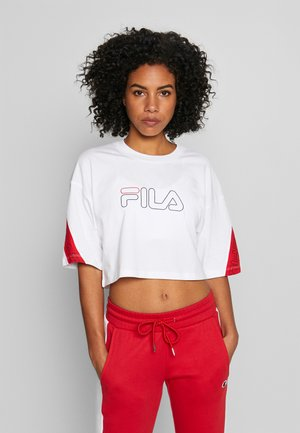 LAVI - Camiseta estampada - bright white/true red