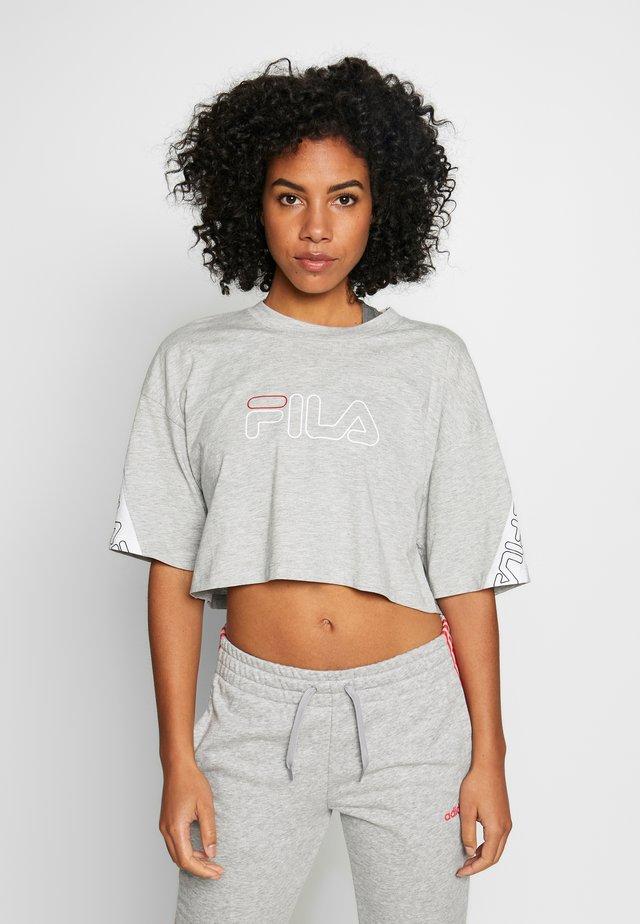 LAVI - T-Shirt print - light grey melange bros/bright white