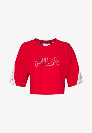LAVI - T-shirt z nadrukiem - true red-black iris-bright white