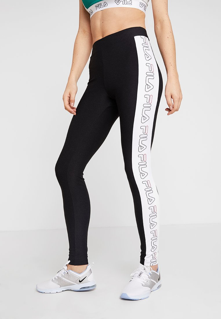 Fila - LEGGINS - Leggings - black/bright white
