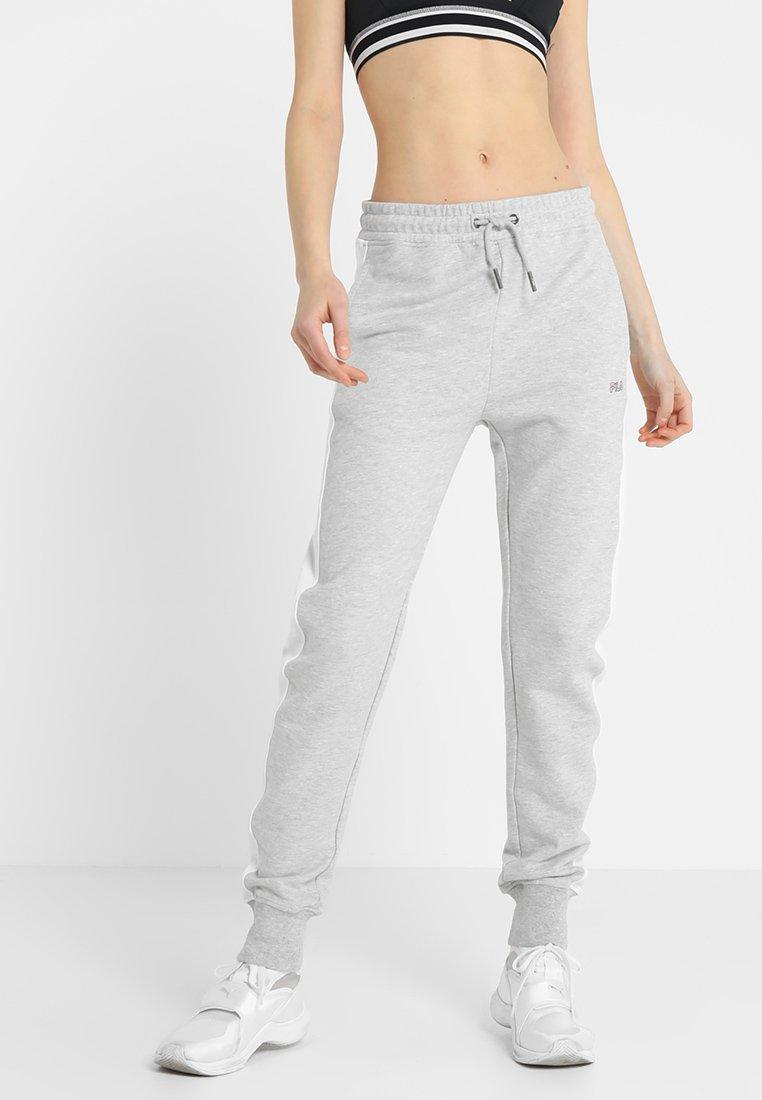 Fila - FLORA PANTS - Jogginghose - light grey melange bro/bright white