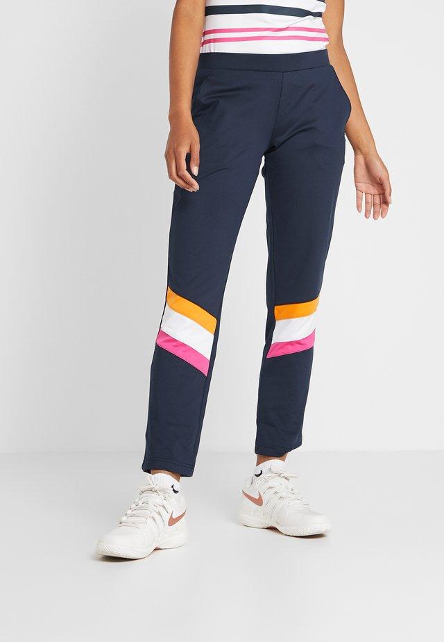 PANT ANABEL - Teplákové kalhoty - peacoat blue/white/fuchsia purple/orange peel