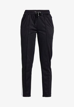 TRACK PANTS - Teplákové kalhoty - black/bright white