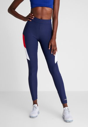 LEGGINGS - Punčochy - black iris/bright white/true red