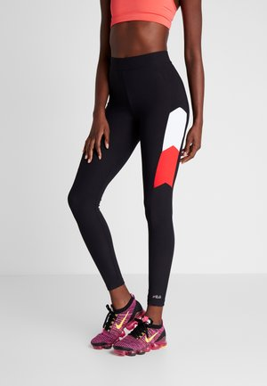 LEGGINGS - Tights - black/bright white/true red