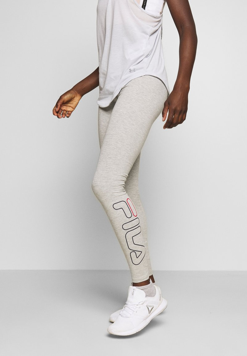 Fila - FLEXY LEGGINS WOMAN - Tights - light grey melange