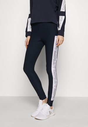 LARISSA LEGGINGS - Leggings - black iris/bright white