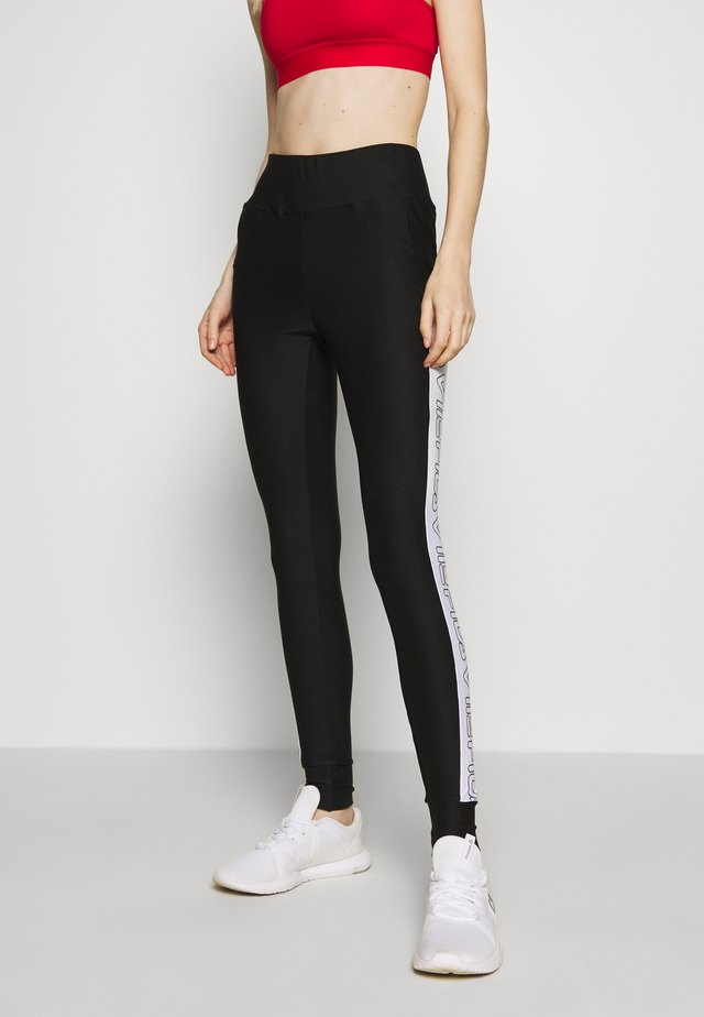 LARISSA LEGGINGS - Leggings - black/bright white