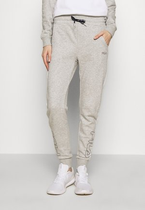 LAILA - Tracksuit bottoms - light grey melange/bright white