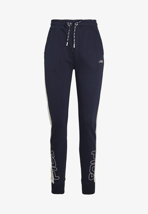 LAILA - Tracksuit bottoms - black iris/light grey melange