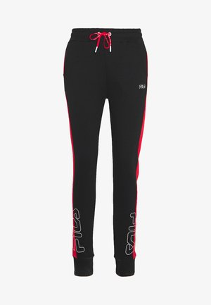 LAILA - Trainingsbroek - black/true red