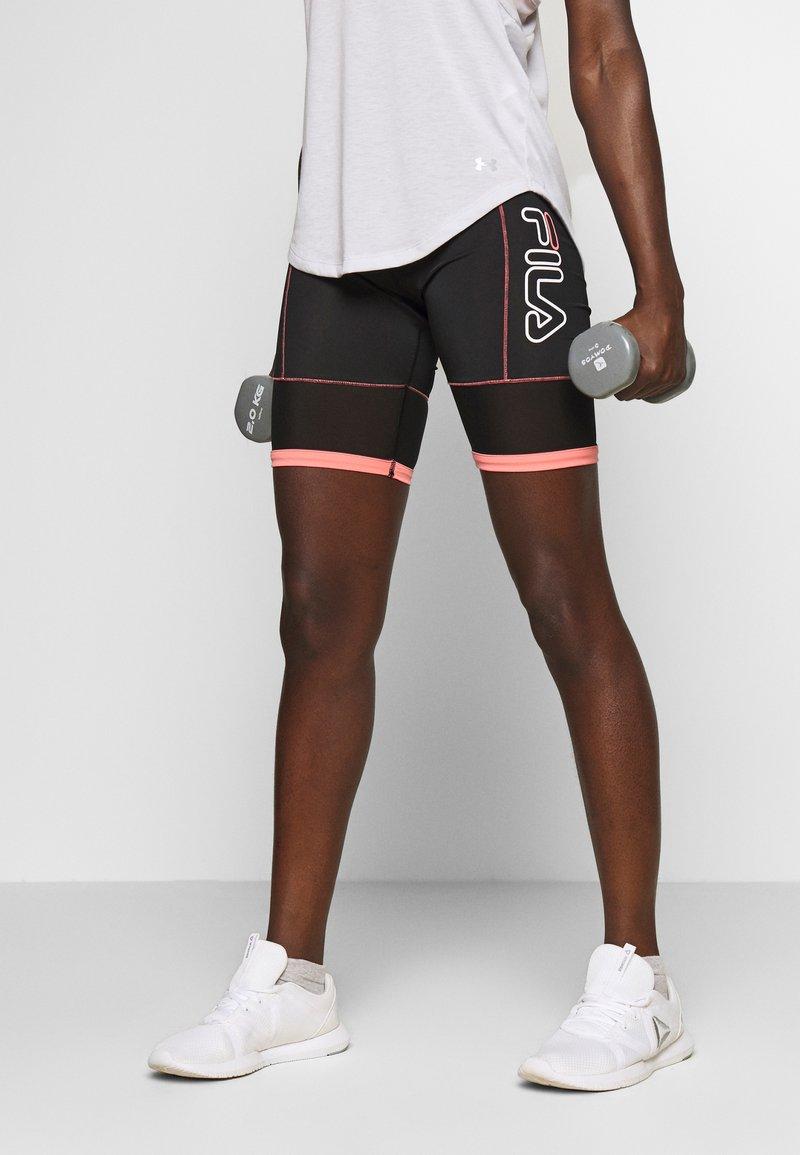 Fila - AMSER - Sports shorts - black/shell pink