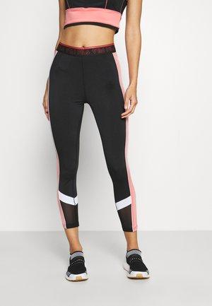 ANWEN - Legging - black/shell pink/bright white