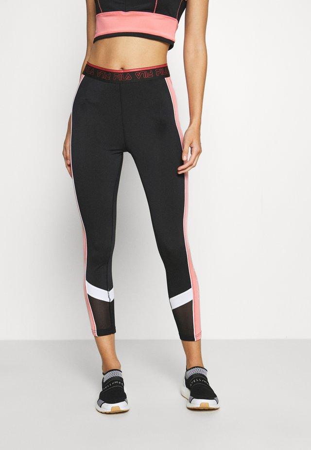 ANWEN - Tights - black/shell pink/bright white