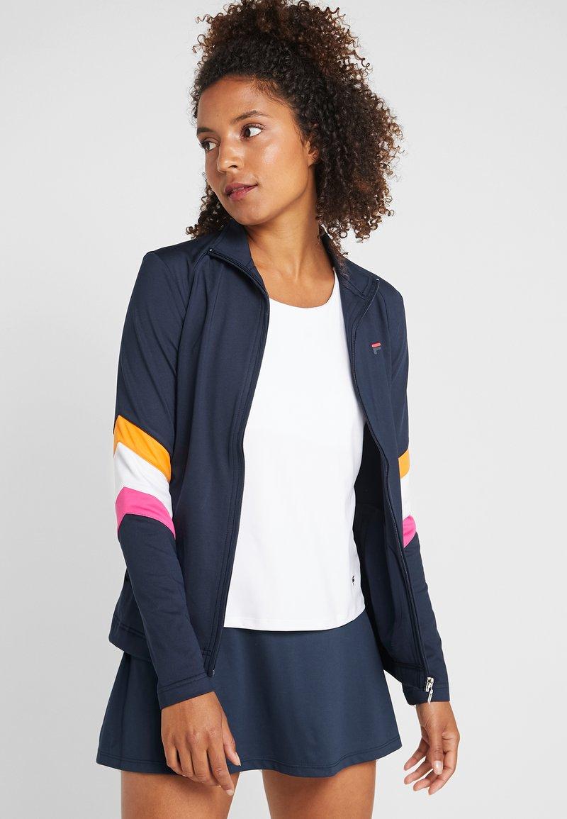 Fila - JACKET AMANDA - Training jacket - peacoat blue/white/fuchsia purple/orange peel