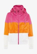 LIGHT WIND JACKET - Training jacket - beetroot purple/bright white/mandarin orange