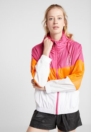 LIGHT WIND JACKET - Chaqueta de entrenamiento - beetroot purple/bright white/mandarin orange