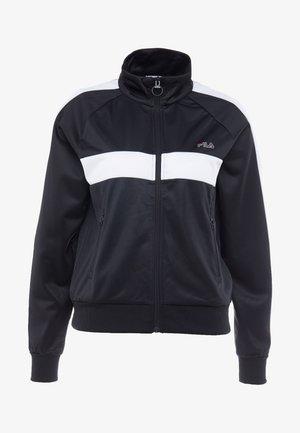 TRACK JACKET - Sportovní bunda - black/bright white