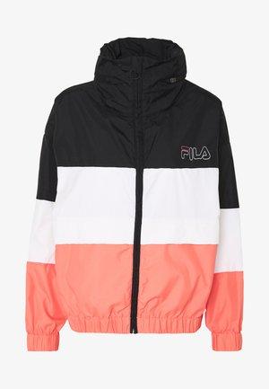 AGRATA - Training jacket - black/shell pink/bright white
