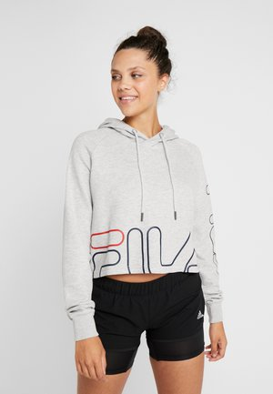 CROPPED HOODY - Hoodie - light grey melange