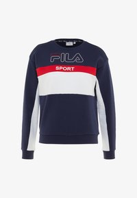 Fila - CREW  - Bluza - black iris/bright white/true red - 4