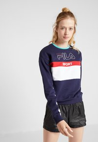 Fila - CREW  - Bluza - black iris/bright white/true red - 0