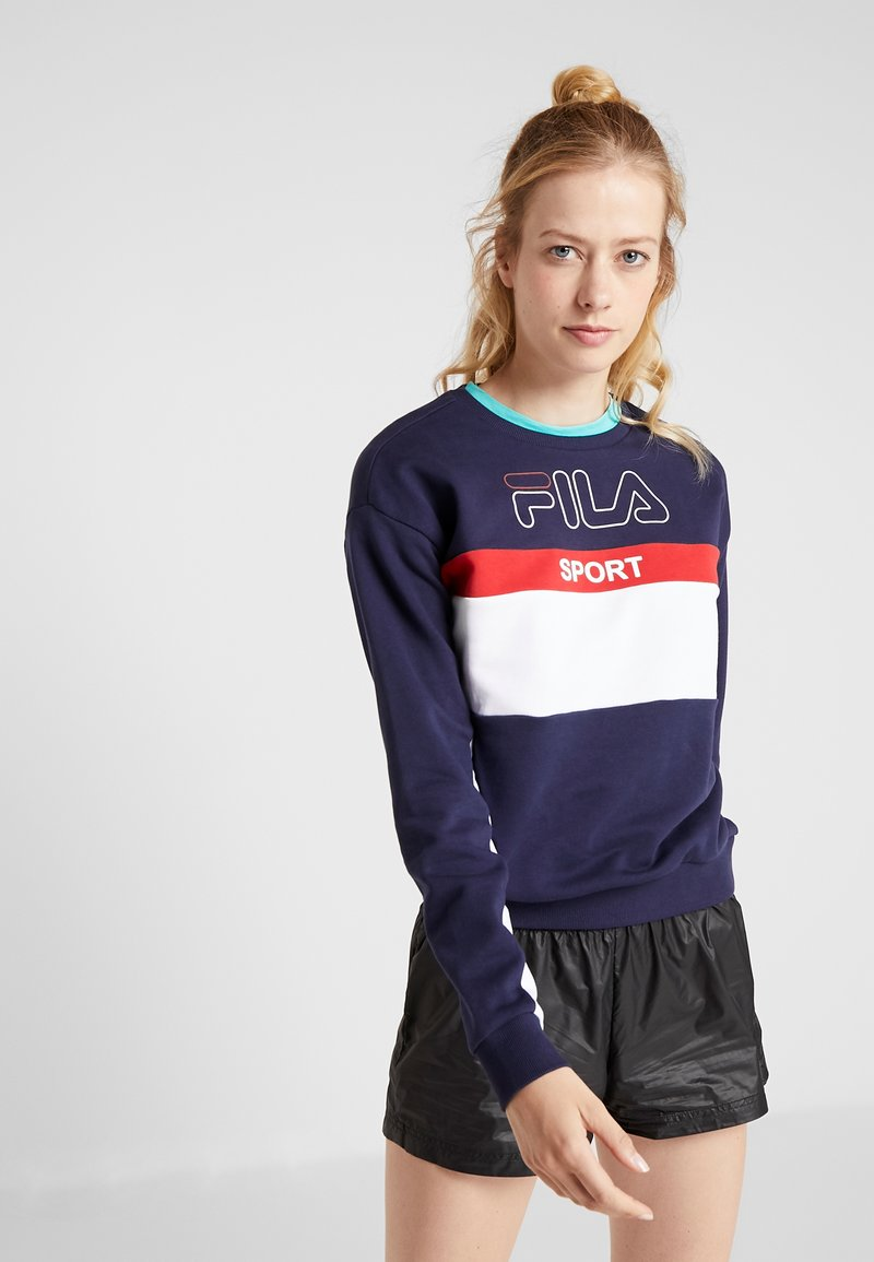 Fila - CREW  - Bluza - black iris/bright white/true red