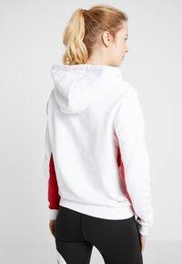 Fila - HOODY - Hoodie - bright white/true red/black iris - 2