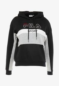 Fila - HOODY - Luvtröja - black/light grey melange/bright white - 4