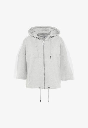 OVERSIZED ZIP HOODY - Sudadera con cremallera - light grey melange/bright white
