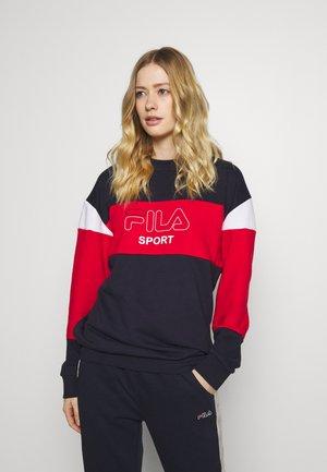 LANA - Sweater - black iris/true red/bright white