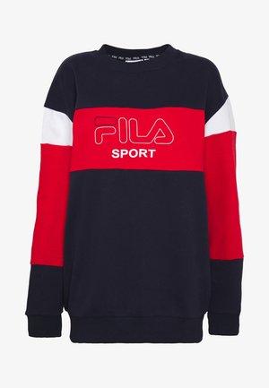 LANA - Sweatshirt - black iris/true red/bright white