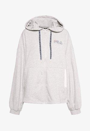LARA - Zip-up hoodie - light grey melange/bright white