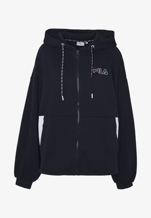 LARA - Zip-up hoodie - black iris/bright white