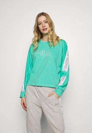 LAURA - Sweatshirts - electric green/bright white