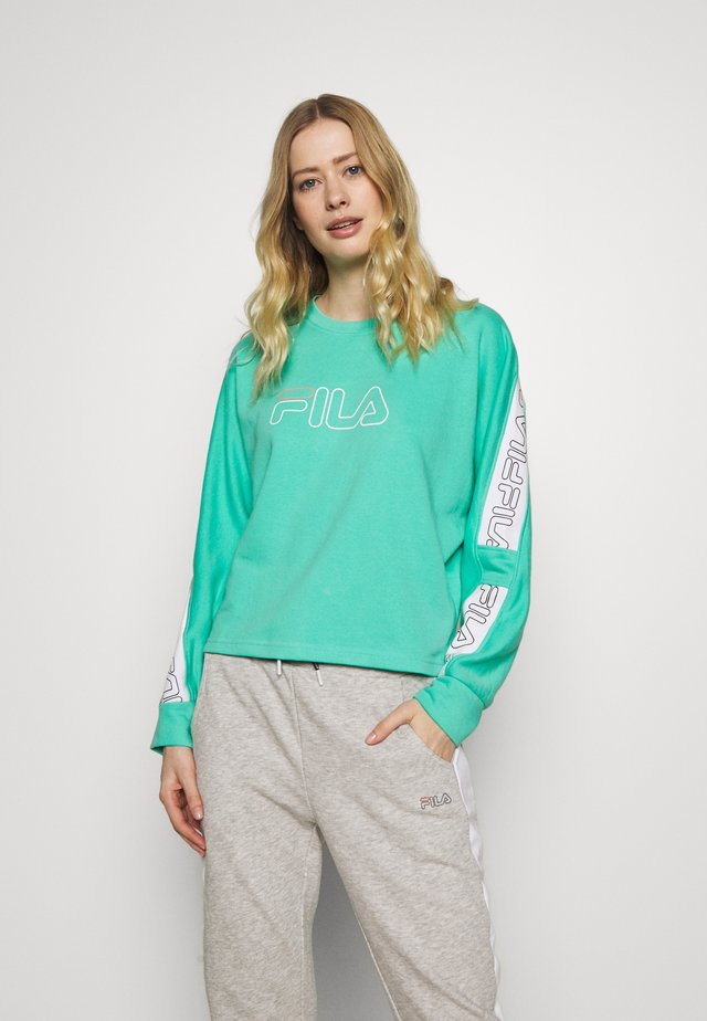LAURA - Sweatshirt - electric green/bright white