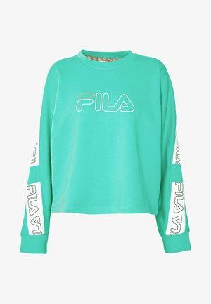 LAURA - Sweatshirt - electric green/bright white