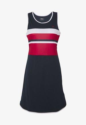 DRESS DORO - Jerseykleid - peacoat blue/white/fila red