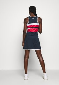 Fila - DRESS DORO - Jersey dress - peacoat blue/white/fila red - 2