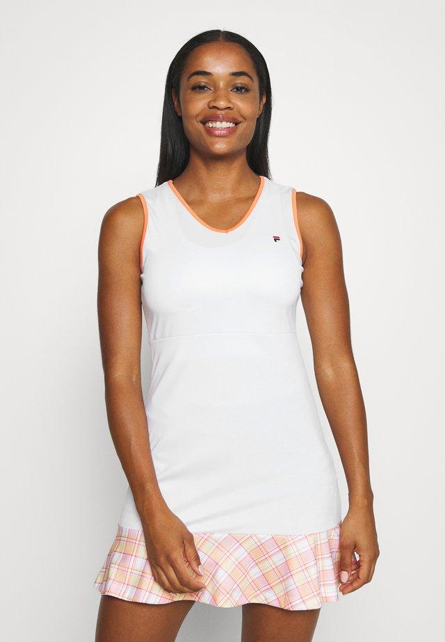 DRESS ZOE - Sportovní šaty - white