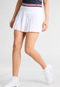 Fila - SKORT  SAFFIRA  - Sportovní sukně - white - 0