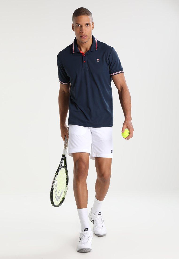Sergio Tacchini Mens Club Tech Cap Navy Blue White Sports Tennis Breathable