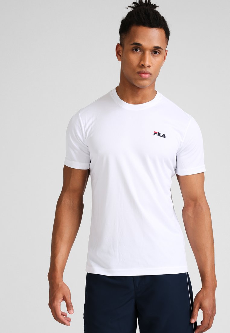 Fila - LOGO SMALL - T-shirt - bas - white