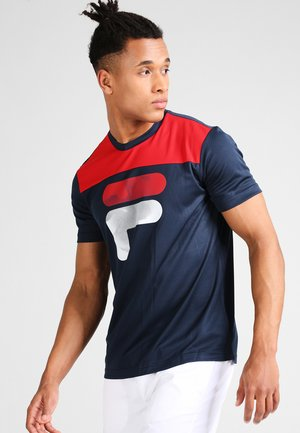 TIM  - Camiseta estampada - peacoat blue/fila red