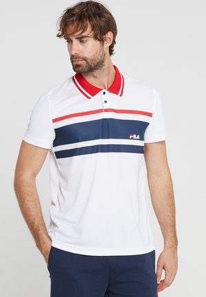 TONY - Poloshirt - white/peacoat blue/fila red