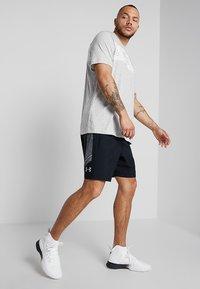 Fila - AKI LOGO TEE - T-shirt print - light grey melange/bright white - 1